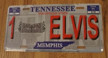 """Amerikaanse kentekenplaat """" Elvis Presley Tennesee """""""