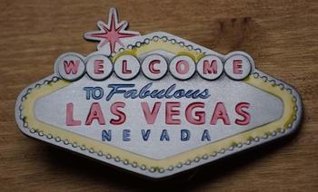"""Belt buckle """" Welkom in sprookjesland Las Vegas """""""