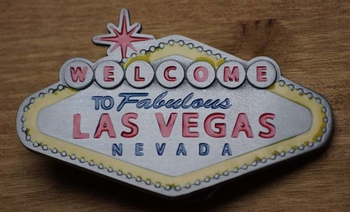 "Belt buckle "" Welkom in sprookjesland Las Vegas"" UITVERKOCHT"