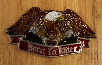 """Buckle / gesp  """" Ride hard, die free """"  UITVERKOCHT"""