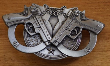 Belt buckle with lighter