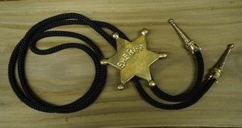 """Bolo tie  """"  Sheriff ster """"  Goudkleurig"""
