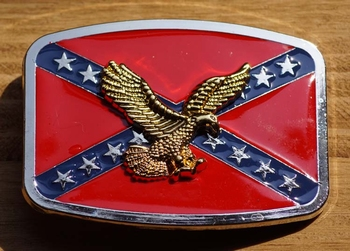 """Buckle / gesp  """" Rebelvlag met adelaar """""""