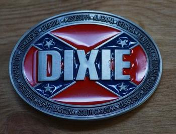 """Buckle / gesp  """" Rebelvlag  Dixie """""""
