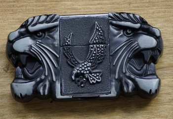 "Belt buckle with lighter "" Leeuwen +  Adelaar """
