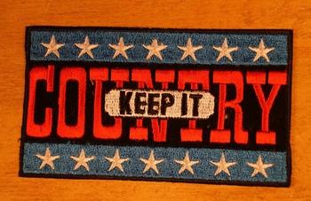 """Strijkapplicatie  """" Keep it country """""""