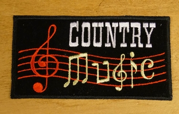 """Strijkapplicatie  """" Country music """""""