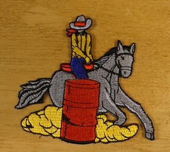 """Applicatie  """" Cowboy op paard """"   Rechts"""