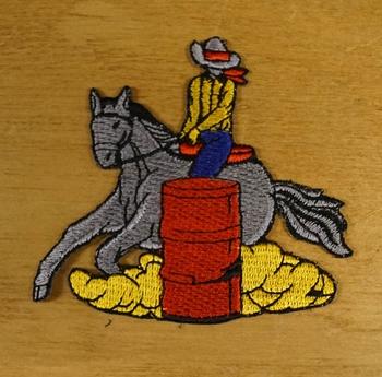 """Applicatie  """" Cowboy op paard """"   Links"""