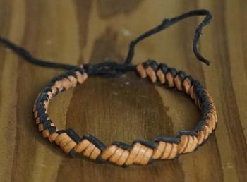 Leren smalle armband