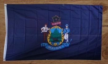 """Amerikaanse Staten gevelvlag  """" Maine """""""