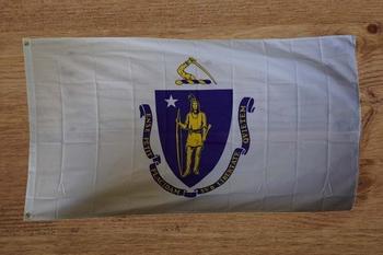 """Amerikaanse Staten vlag  """" Massachusetts """""""
