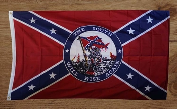 """Rebelvlag  """" The south will rise again """""""