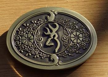 """Buckle / gesp  """" Keltisch tekens """"    Brons kleurig"""