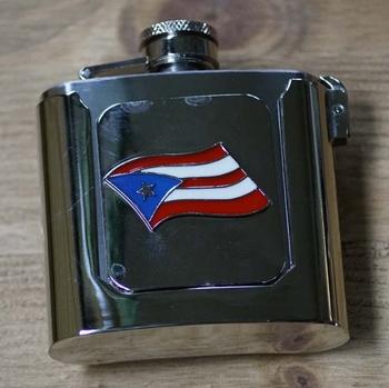 """Buckle / gesp  """" Heupflesje met Puerto Rico """""""