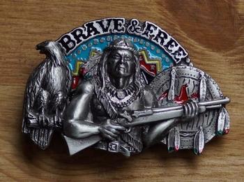 "Buckle / gesp  "" Brave & free """