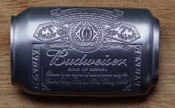 "Buckle / gesp  "" Budweiser can ""  Bier"