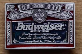 """Buckle / gesp  """" Budweiser King of beer """""""