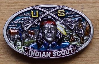 """Buckle / gesp  """" Indiaan scout """"  UITVERKOCHT"""