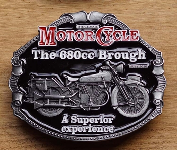 "Motor cycle buckle  "" The 680 cc Brough a superior ... """