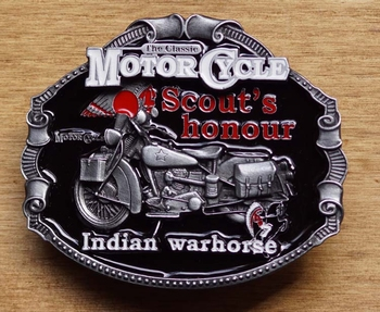 """Motor cycle buckle  """" Scout's hounour indian """""""