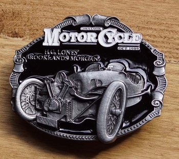 "Motor cycle buckle  "" H.C. lones Brooklands Morgan """