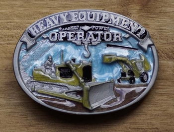 """Beroep buckle  """" Heavy Equipment operator """"  UITVERKOCHT"""