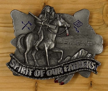"""Buckle/ gesp """" Spirit of our fathers """""""