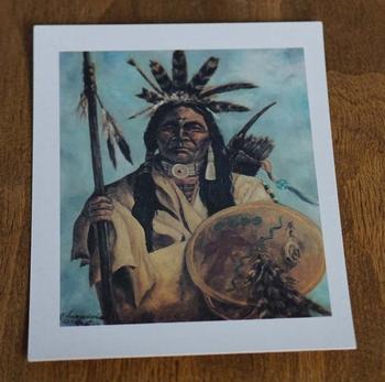 """Ansicht kaart  """" Indiaan met speer en schild """""""