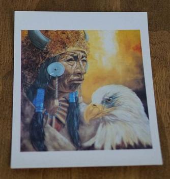 """Ansicht kaart  """" Indiaan met adelaar """""""