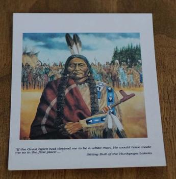 """Ansicht kaart  """" Indiaan met indianen groep """""""
