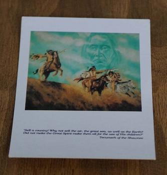 "Ansicht kaart  "" Indianen op paard met indianen gezicht """