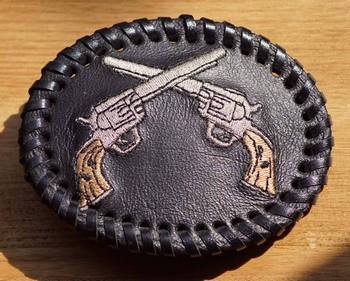Leren belt buckle