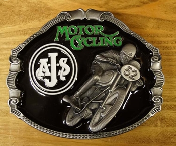 "Motor cycle buckle  "" A.J.S """