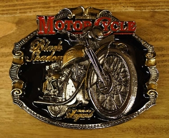 "Motor cycle buckle  "" Black shadour """