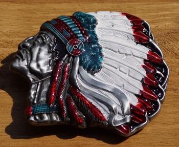 """Buckle  """" Indianen hoofd """""""