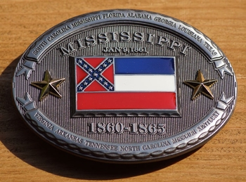 "Buckle  "" Mississippi  1860 - 1865 """