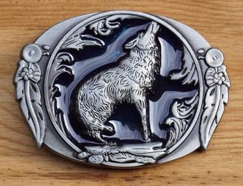 "Belt buckle  "" Wolf """