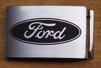 """Auto merk  gesp  """"  Ford """"  Zilverkleurig"""