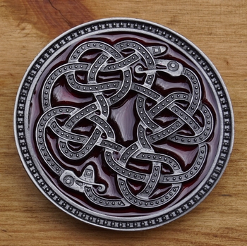 "Buckle / gesp  "" Celtic snake """