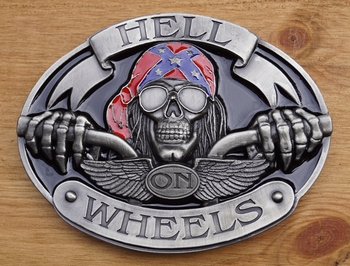 "Buckle / gesp  "" Hell on wheels """