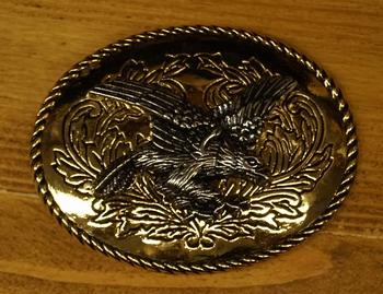"""Buckle  """" Landen adelaar """" Goud- / zilverkleurig"""
