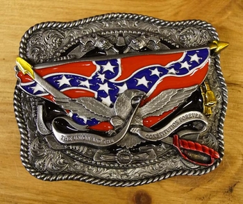 """Buckle """" The union and the constitutions forever """""""