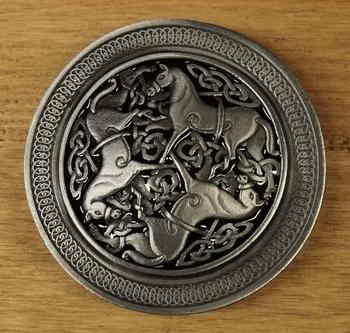"""Buckle / gesp  """" 3 Keltische paarden """""""