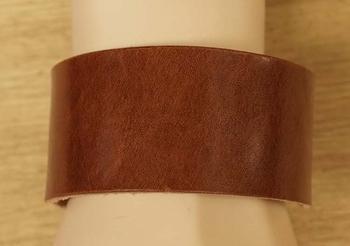 """Brede leren armband  """" Bruin"""