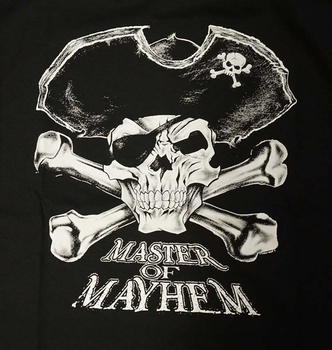 "T-shirt "" Master of mayhem ""  Zwart"