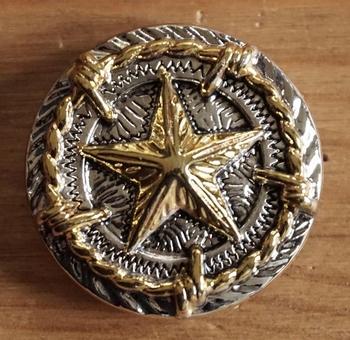 "Concho "" Texas ster "" goud- / zilverkleurig"