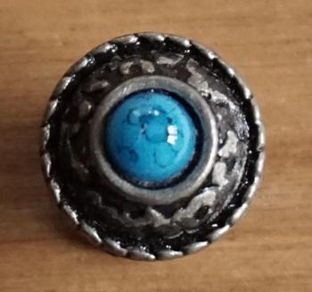 "3D concho "" Blauwe steen """
