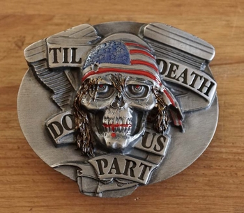 """Belt buckle   """" Til death do us part """""""