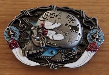 "Belt buckle   "" Schedel indiaanse styl """
